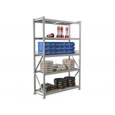 Металлические стеллажи среднегрузовые для склада и мастерских MS PRO 250х10х60