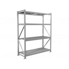 Металлические стеллажи среднегрузовые для склада и мастерских MS PRO 2000х1800х600