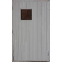 Дверь наружная щитовая,обитая рейкой