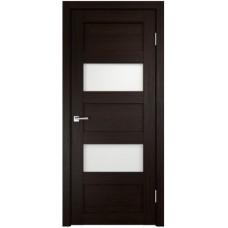 Финская дверь в сборе экошпон с притвором остекленная Аризона2